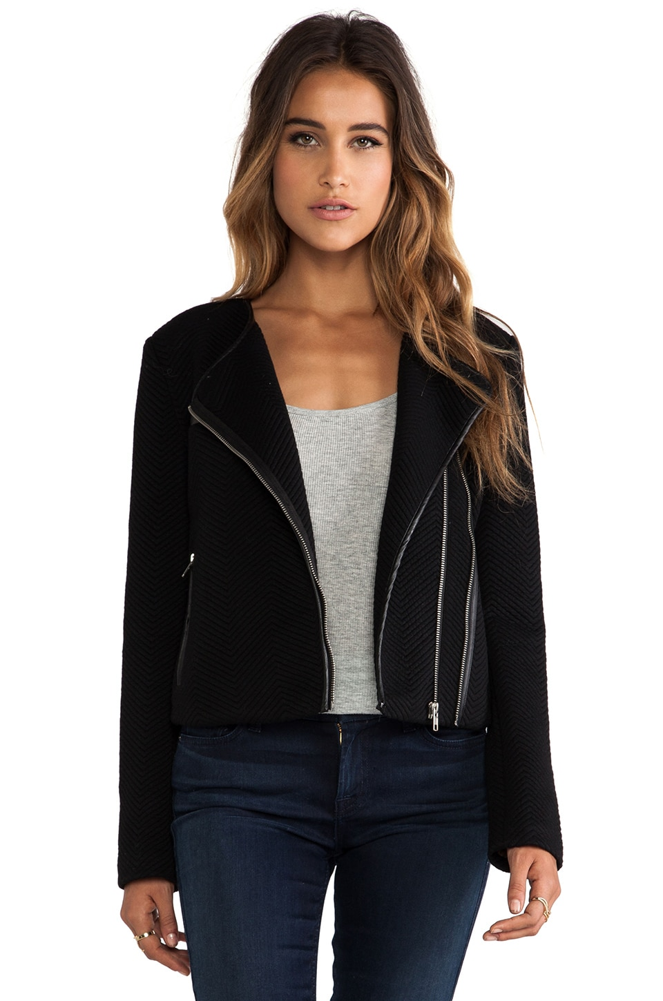 Greylin Karla Moto Jacket in Black