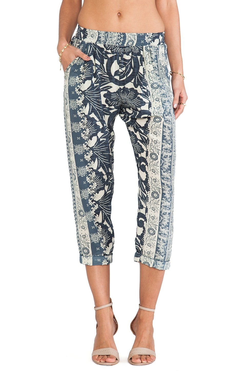 Greylin Jules Silk Pants in Marine