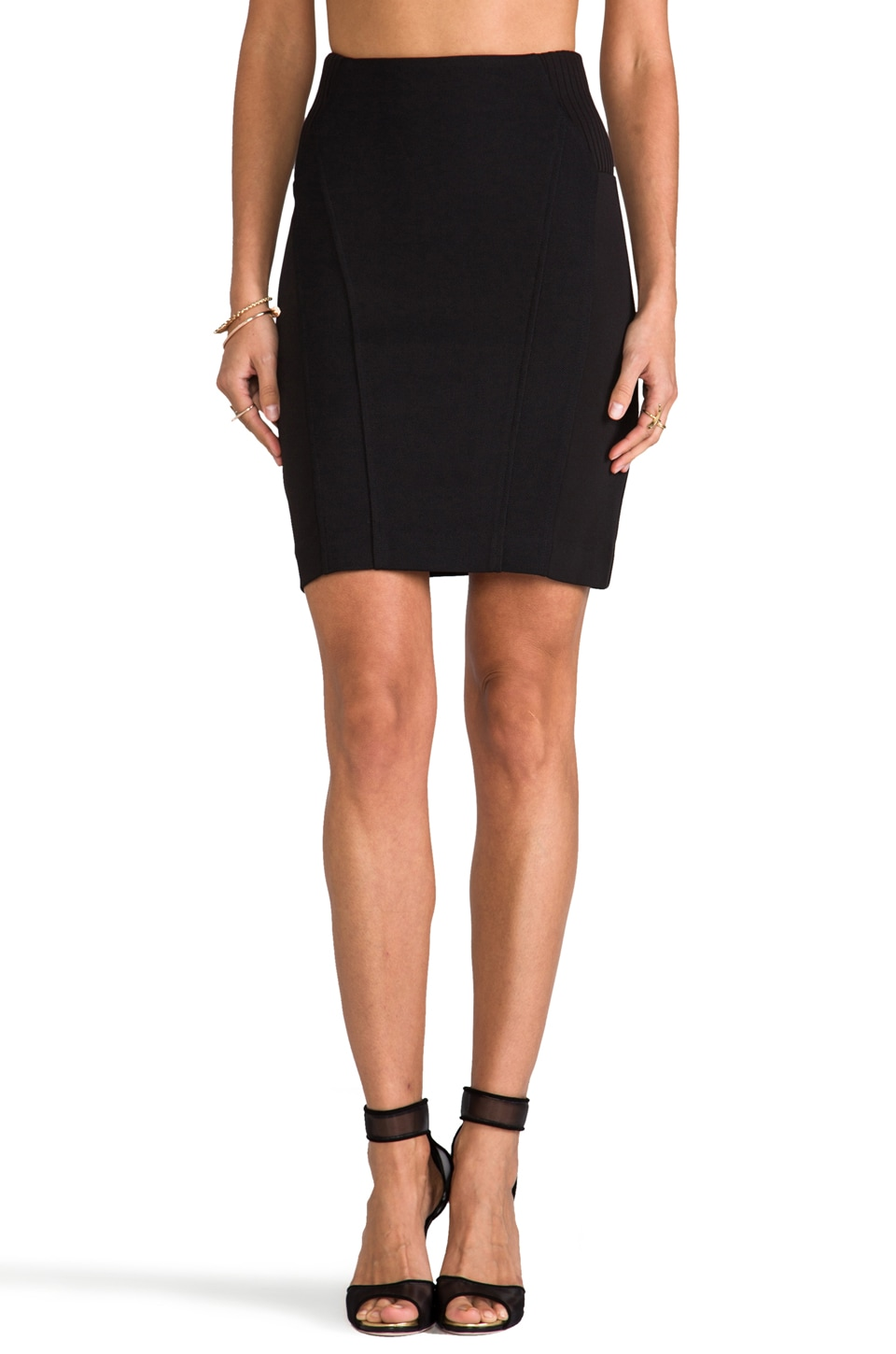 Greylin Victoria Pencil Skirt in Black