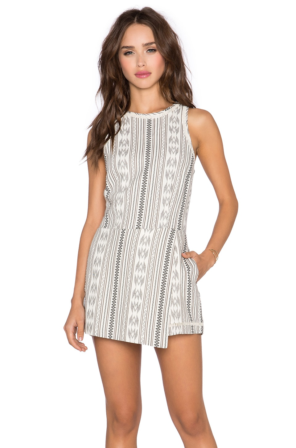 Greylin Pria Cut-Out Skirt Romper in Grey