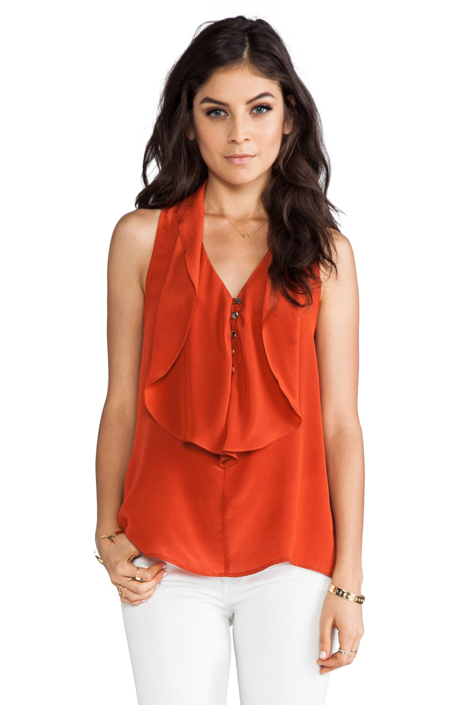 Greylin Penelope Ruffled Top in Rust