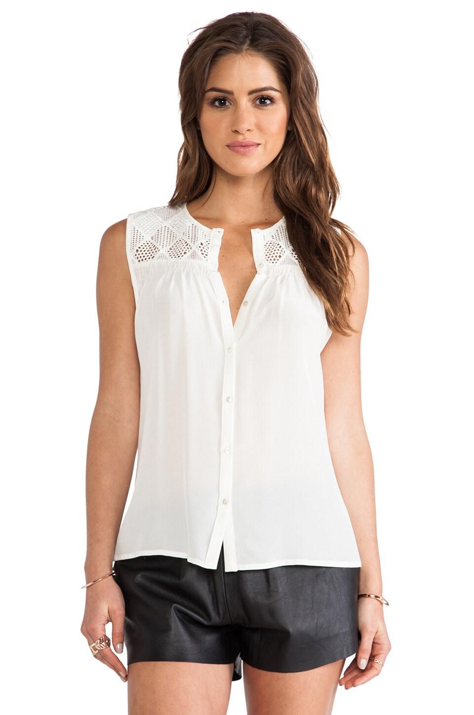 Greylin Dawson Silk Sleeveless Top in White