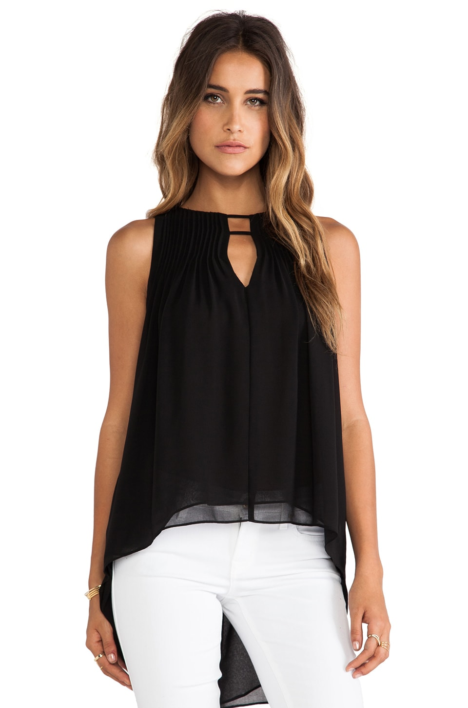 Greylin Jensen Hi Lo Top in Black