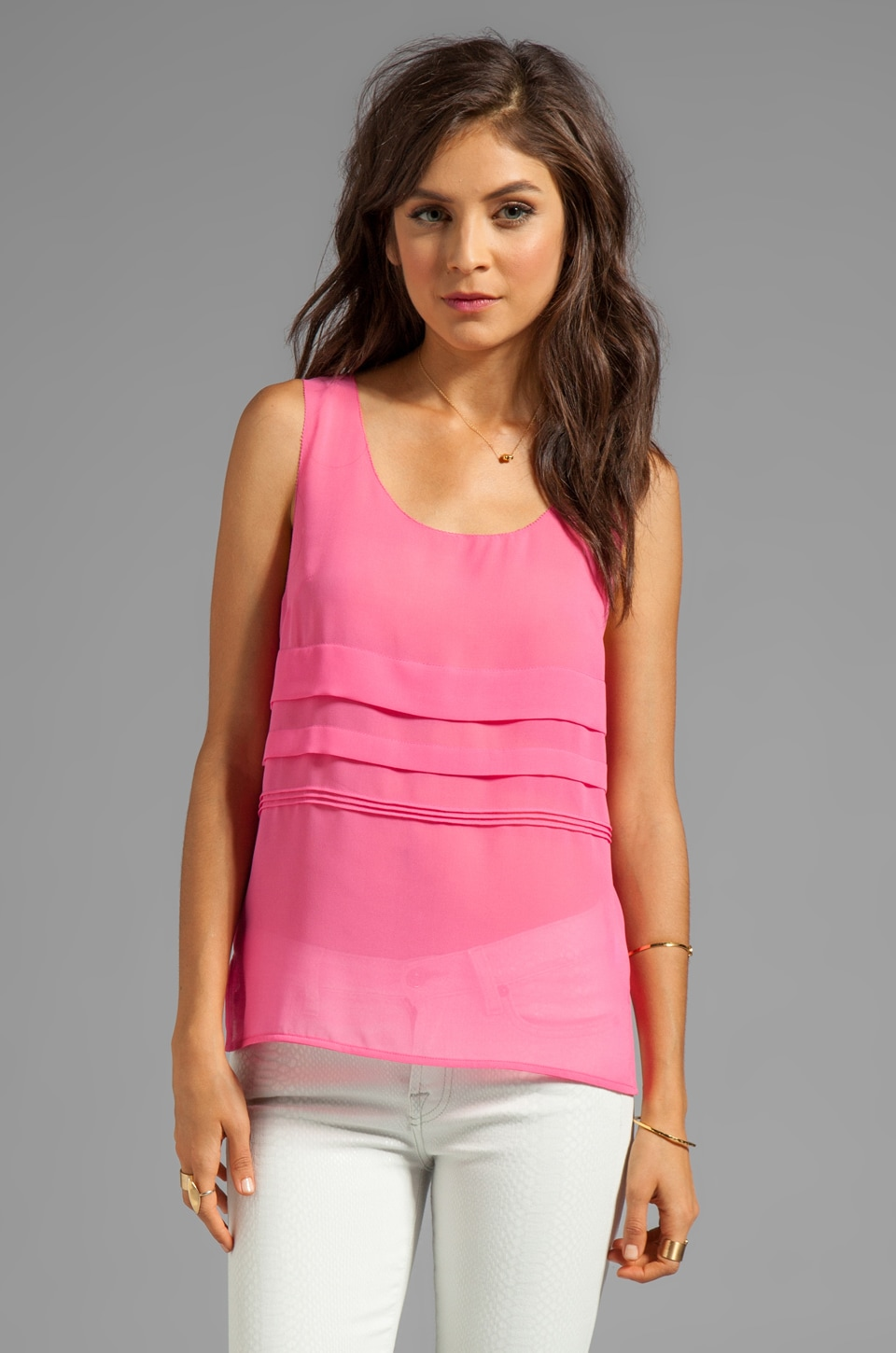 Greylin Kristie Pintucked Tank in Pink