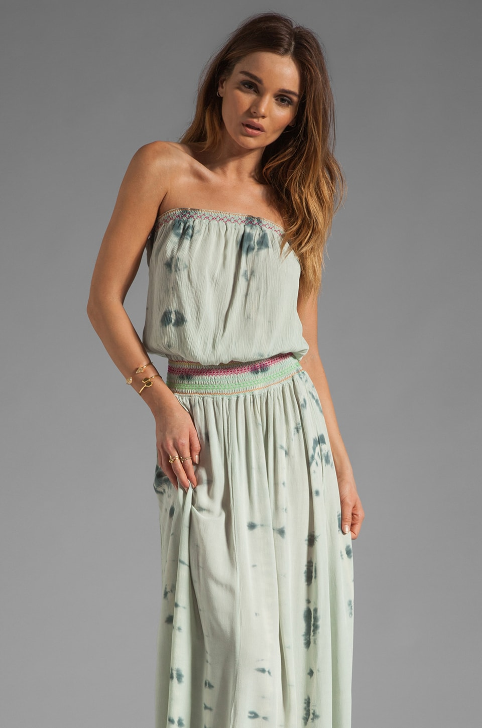 Gypsy 05 Nahil Smocked Tube Maxi in Slate