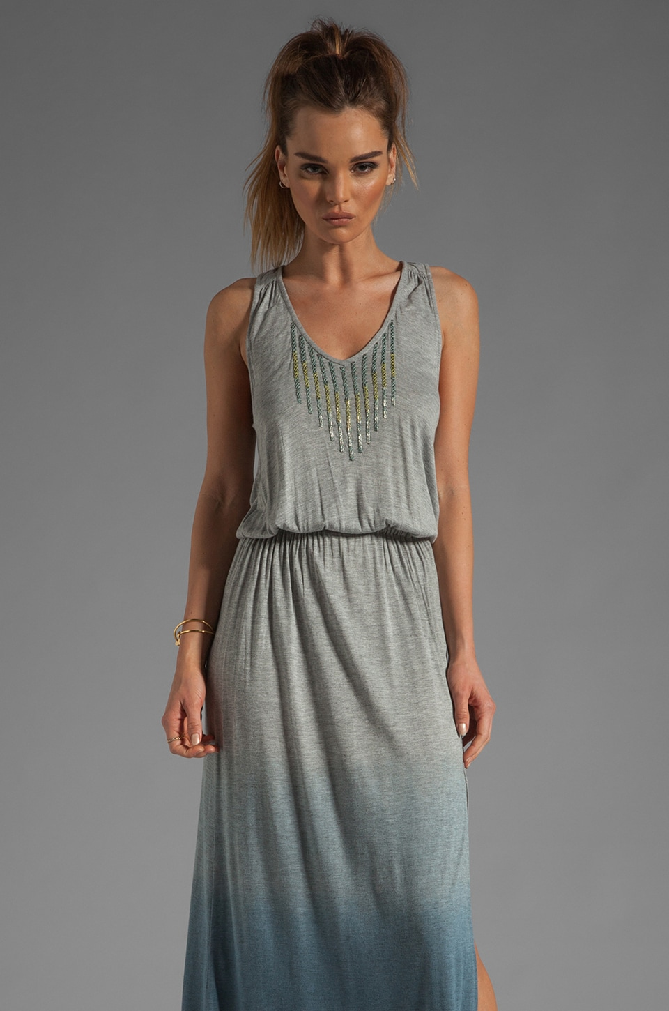 Gypsy 05 Deborah Beaded Jersey Maxi in Navy Dip