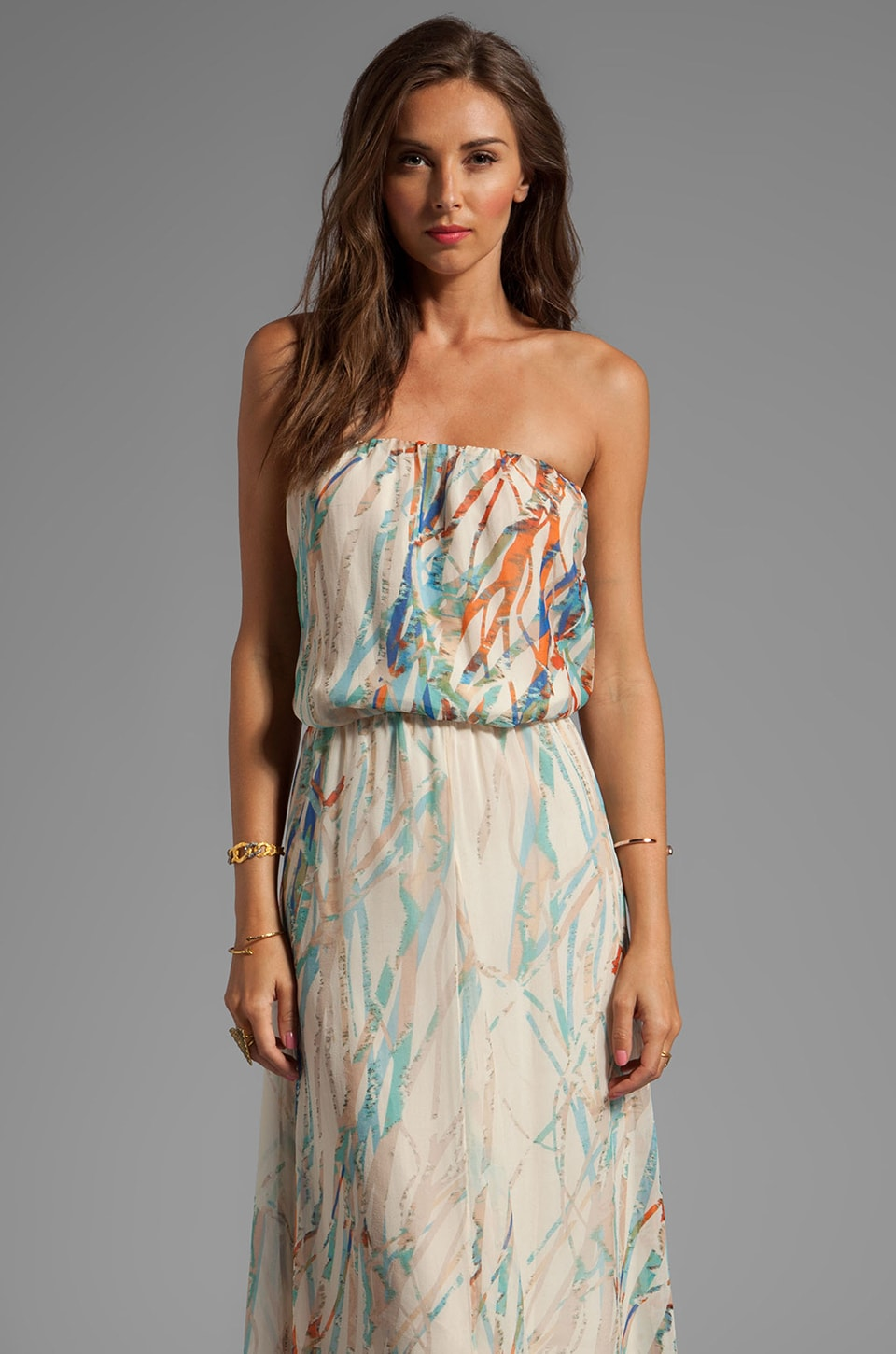 Gypsy 05 Cannes Seismograph Silk GGT Tube Maxi Dress in Moonbeam