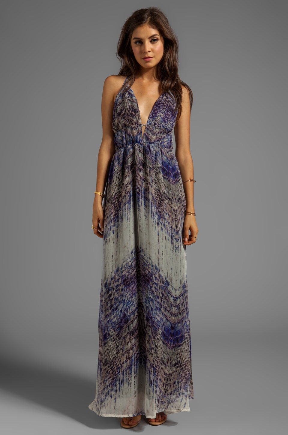 Gypsy 05 Annunaki Long Maxi Dress in Violet