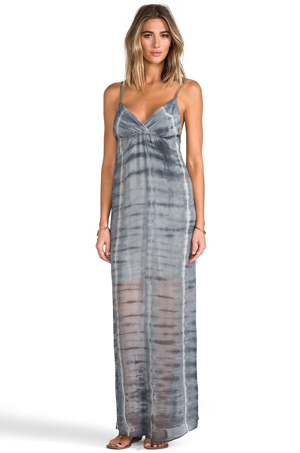 Gypsy 05 Silk Triangle Maxi Dress in Charcoal