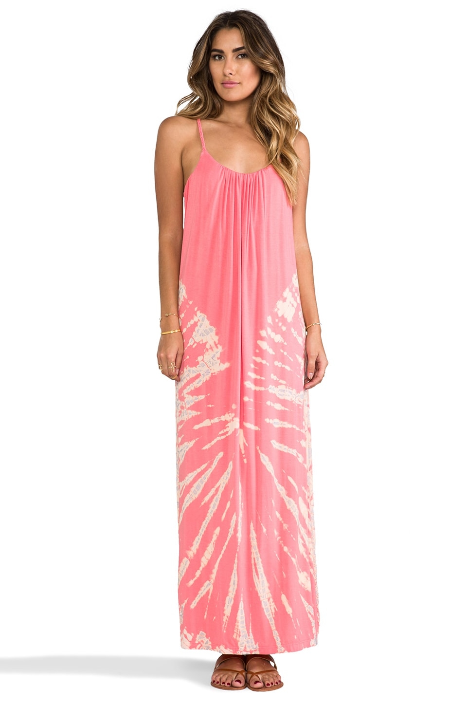 Gypsy 05 Spaghetti Maxi Dress in Salmon
