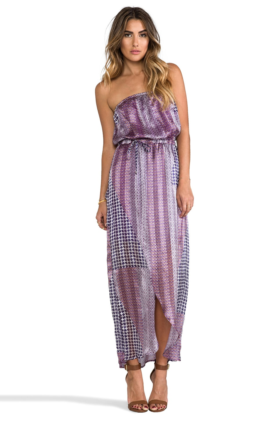 Gypsy 05 Strapless Maxi Dress in Grape