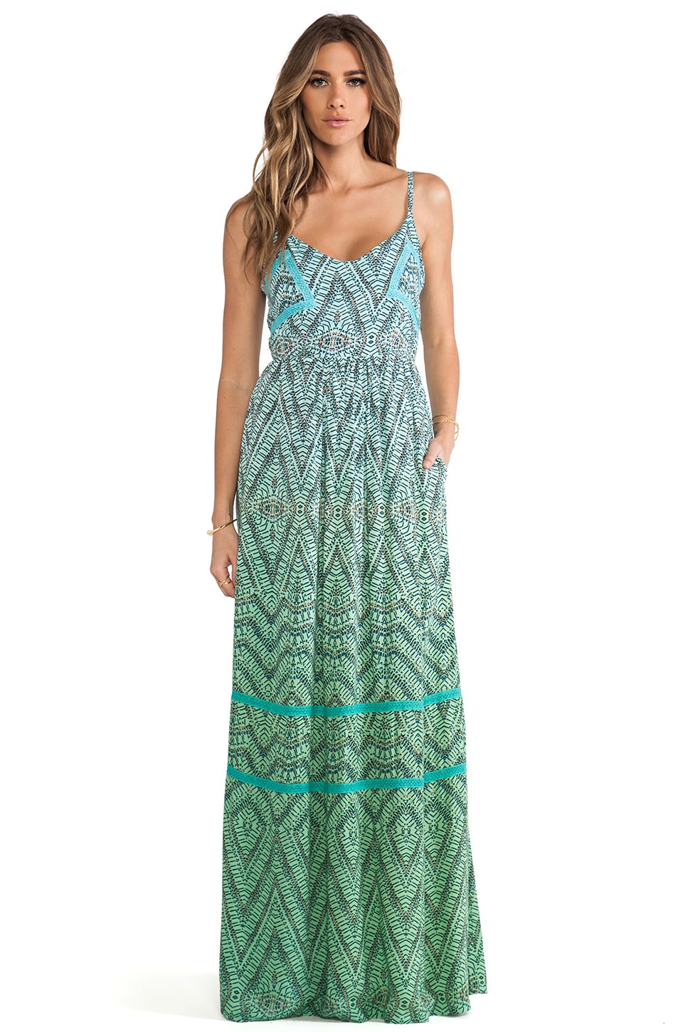 Gypsy 05 Cut Out Maxi Dress in Lagoon