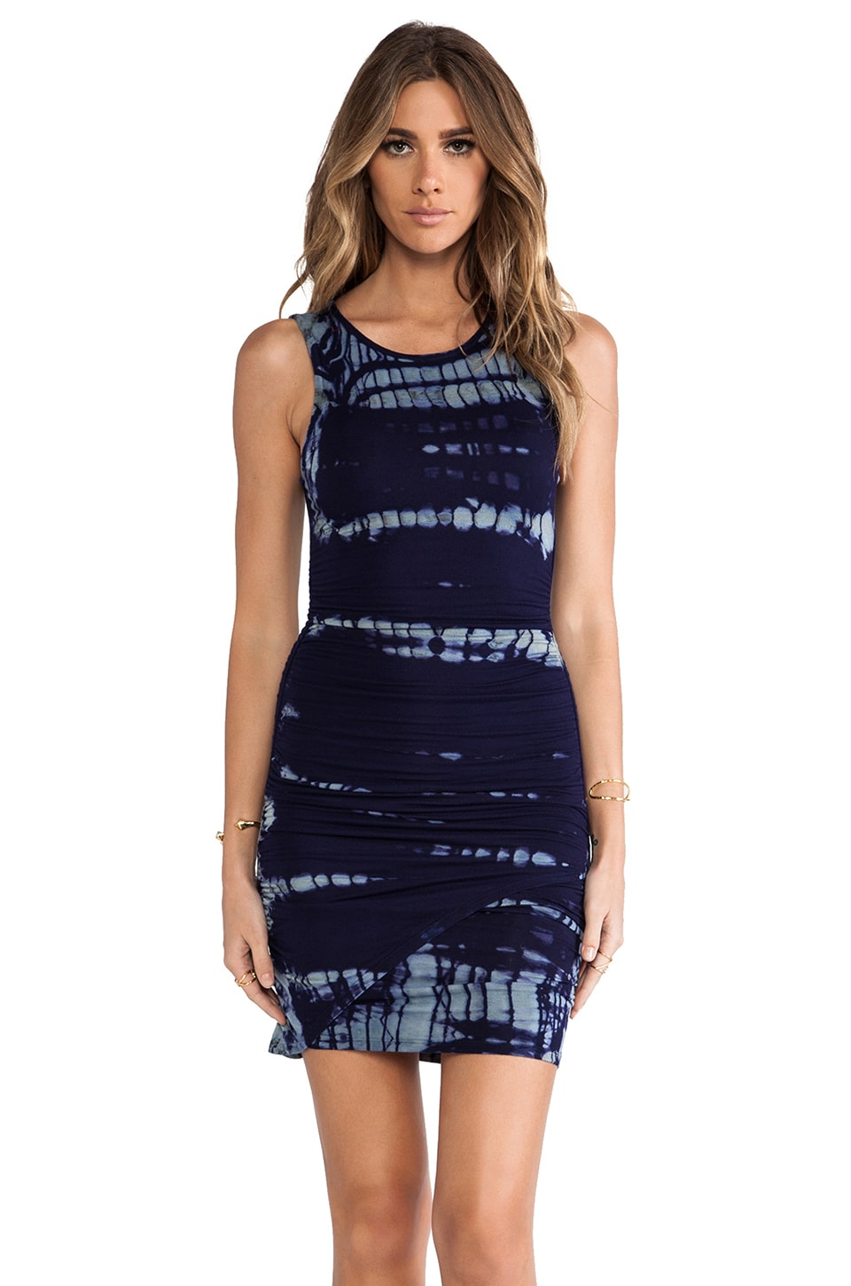 Gypsy 05 Sleeveless Mini Dress in Navy Multi