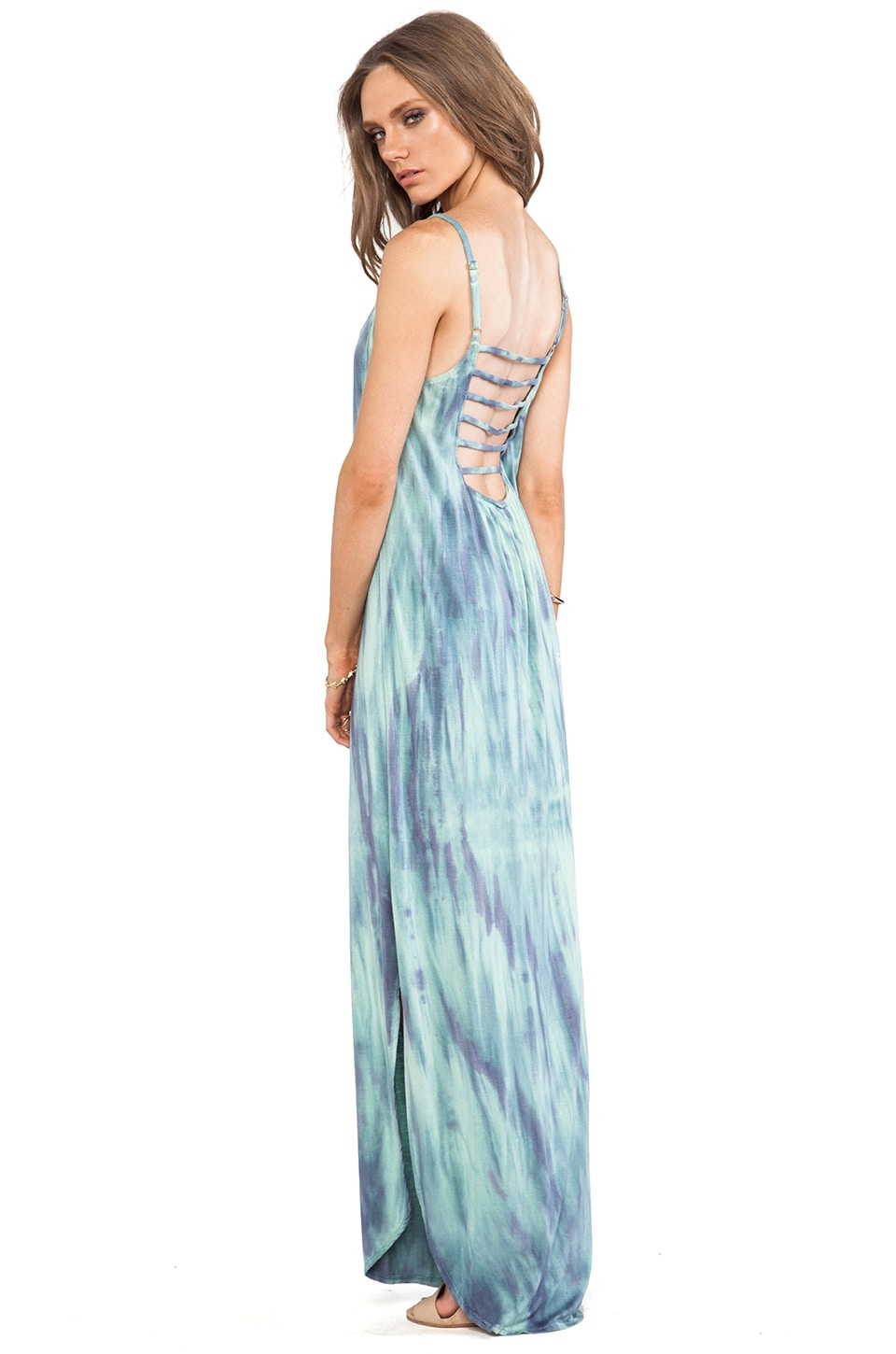Gypsy 05 Scoop Back Dress in Multi Blue