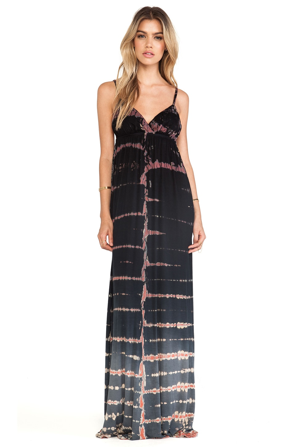 Gypsy 05 Desouk Triangle Maxi Dress in Black Ombre