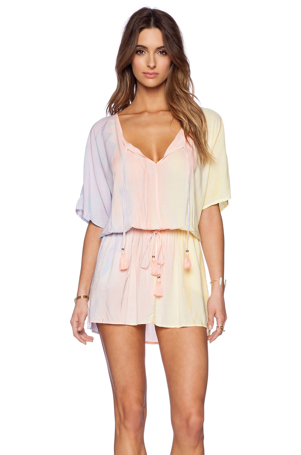 Gypsy 05 Dolman Mini Dress in Sunset