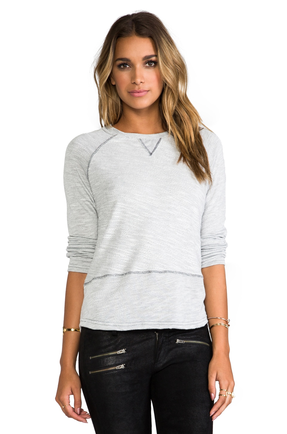 Gypsy 05 Lounge Raglan Sweater in Silver