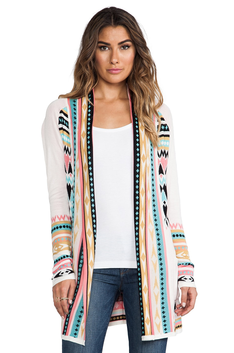 Gypsy 05 Belted Cardigan Sweater in Ivory