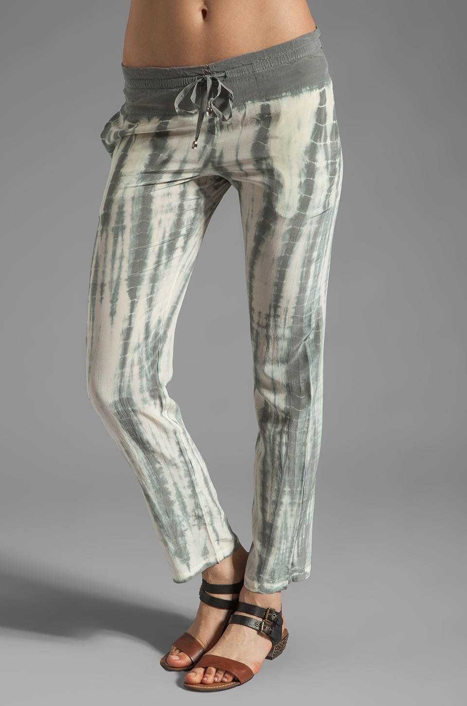 Gypsy 05 Sarah Silk Pant in Grey Alligator
