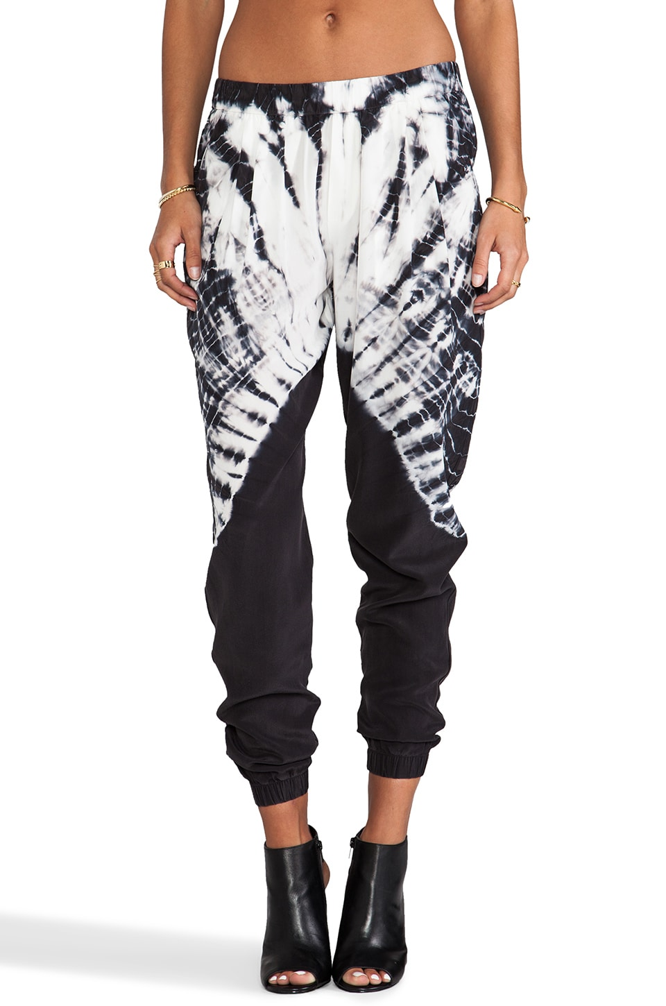 Gypsy 05 Silk Perfect Pant in Black Tie Dye