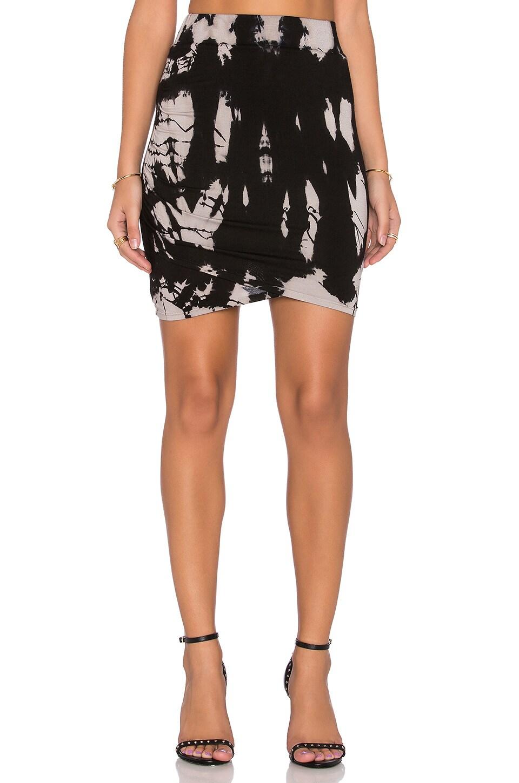 05 shirred mini skirt in black tie dye revolve