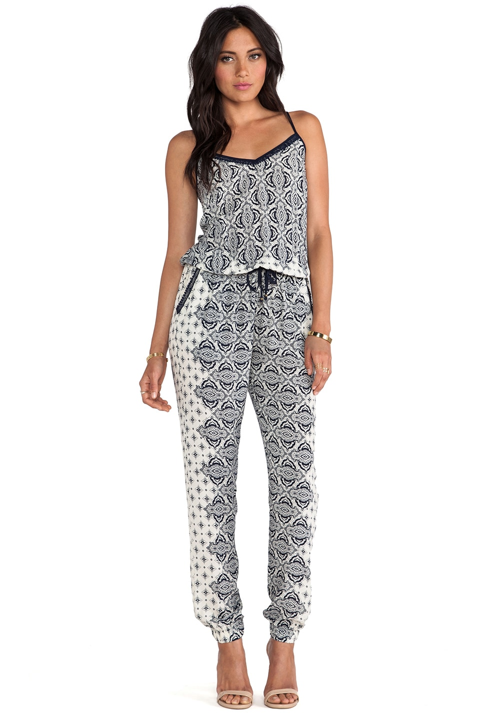 Gypsy 05 Casablanca Pegleg Jumpsuit in Blue