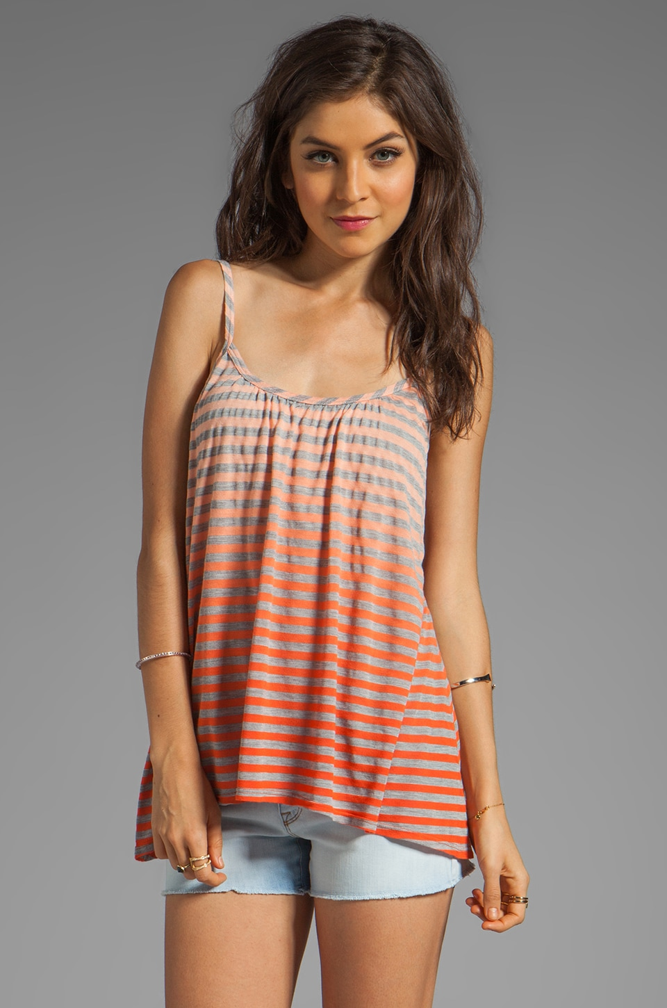 Gypsy 05 Cabarete Jersey Stripe Simple Cami in Lipstick