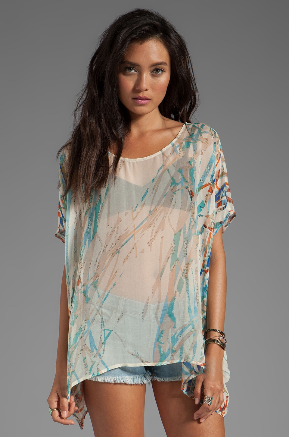 Gypsy 05 Cannes Seismograph Square GGT Top in Moonbeam