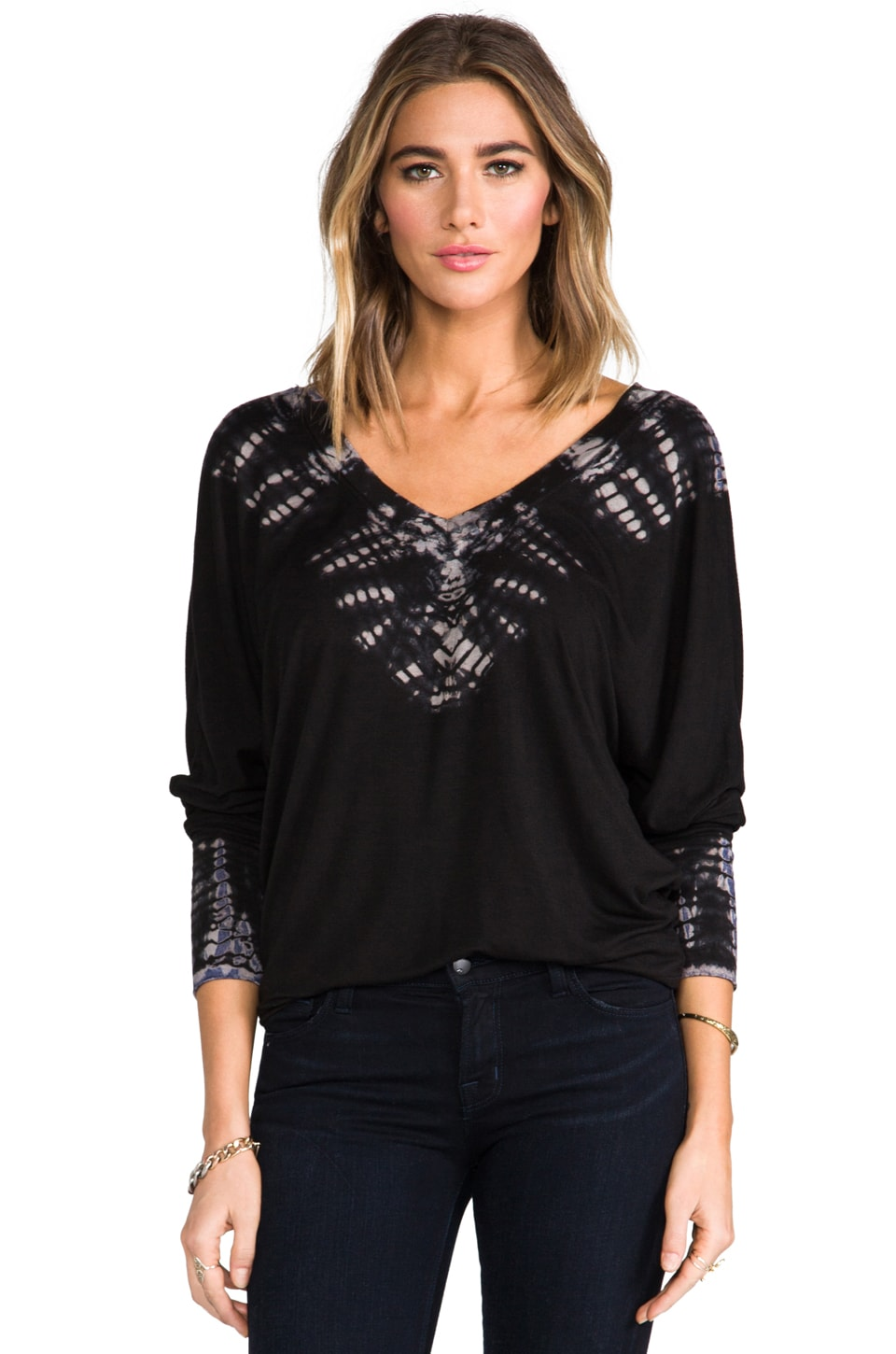 Gypsy 05 Oversized V Neck in Black