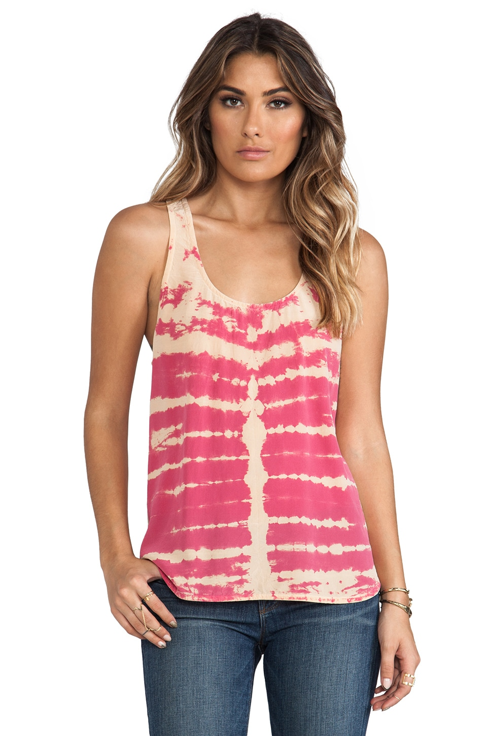 Gypsy 05 Racer Back Tank in Raspberry