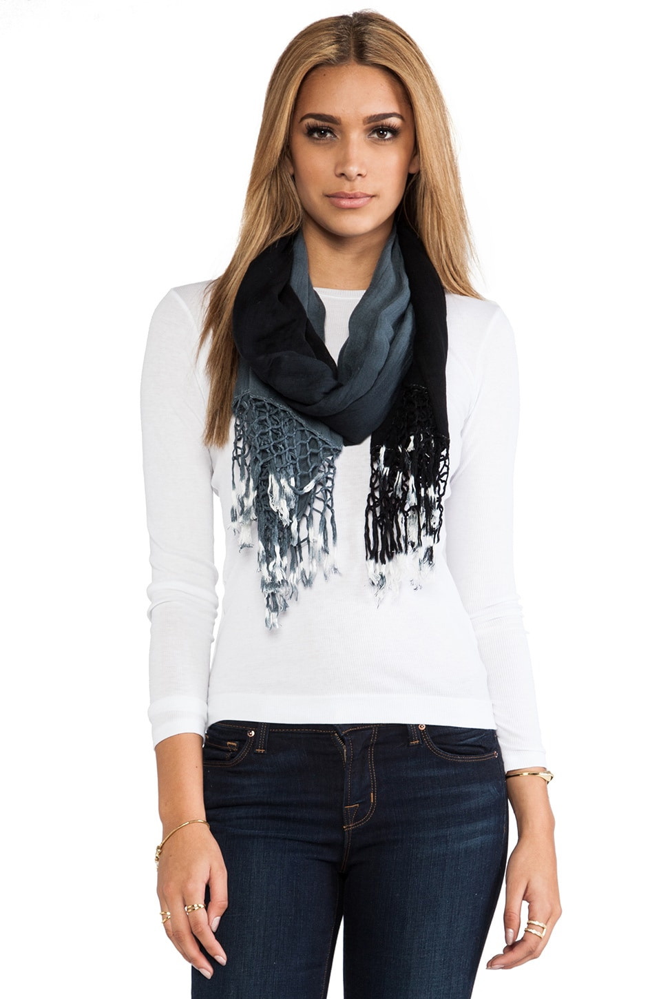 Gypsy 05 Foundation Ombre Scarf in Black