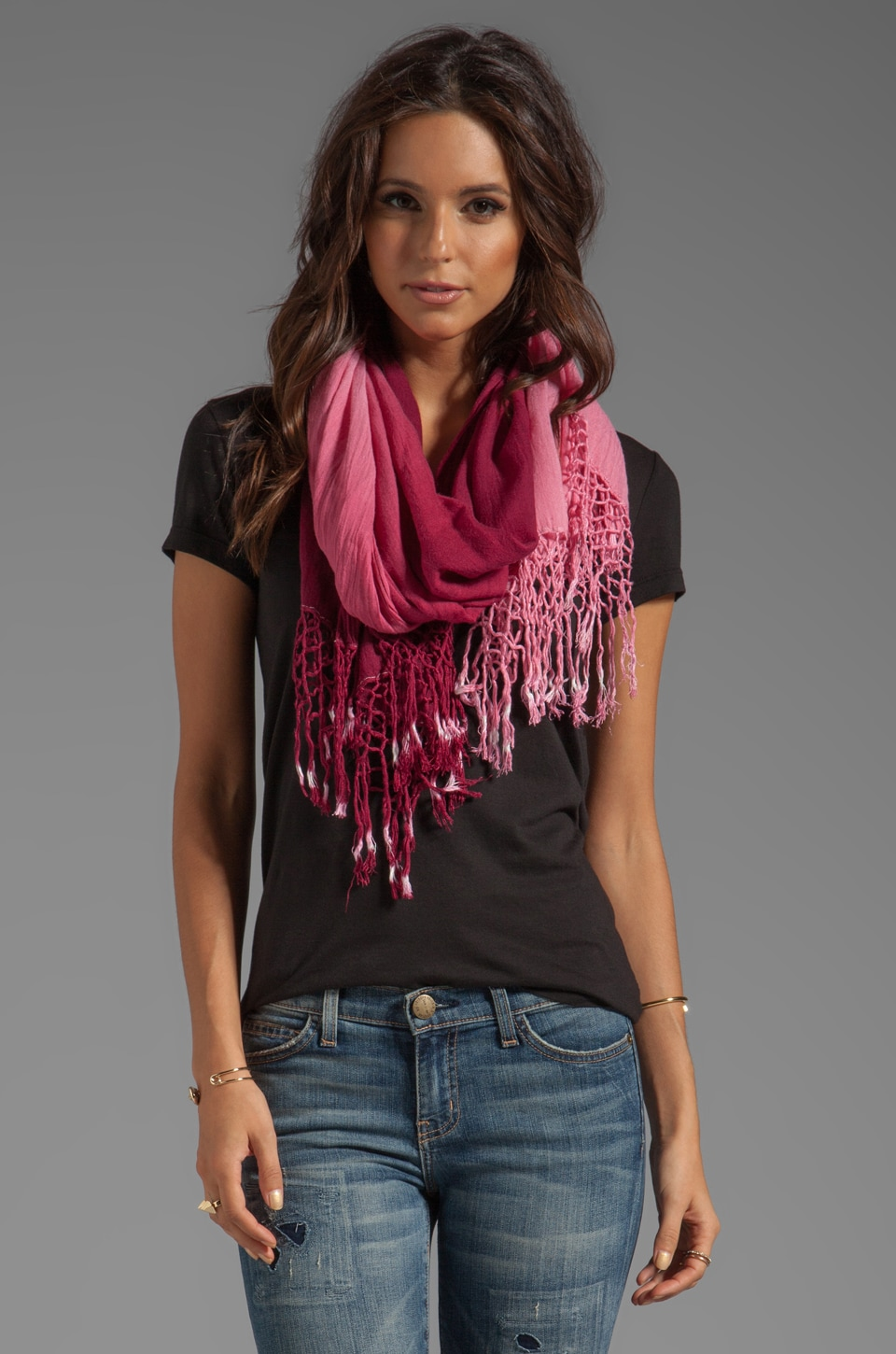 Gypsy 05 Foundation Ombre Scarf in Vino