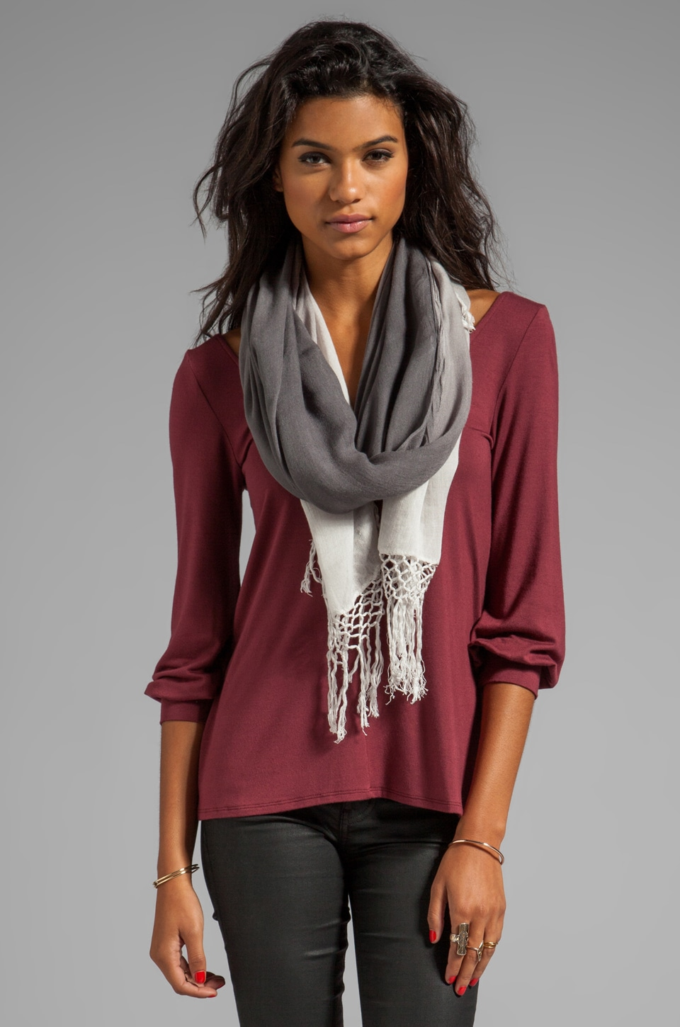 Gypsy 05 Foundation Ombre Scarf in Charcoal