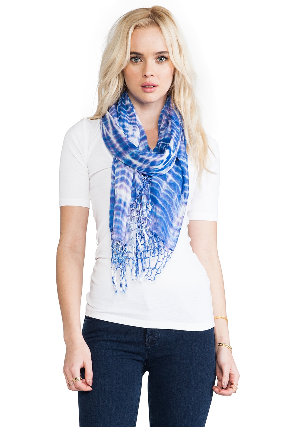 Gypsy 05 Alligator Wash Scarf in Purple & Navy