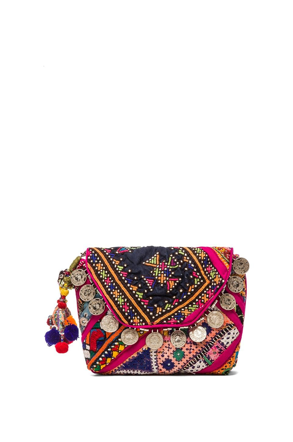 Gypsy 05 Pushkar Clutch in Fuchsia