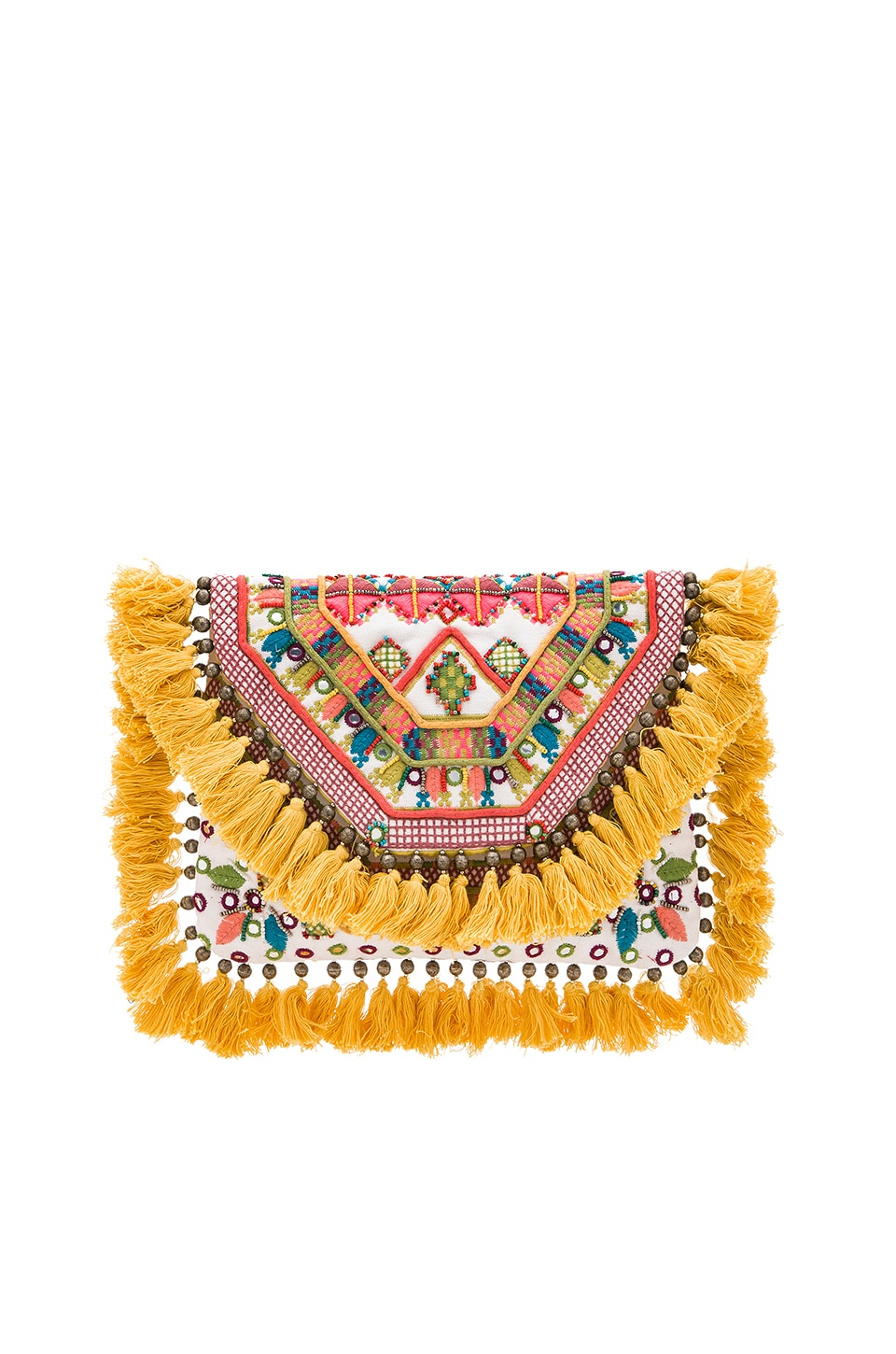 Gypsy 05 Florence Tassel Fringe Clutch in Florence Yellow