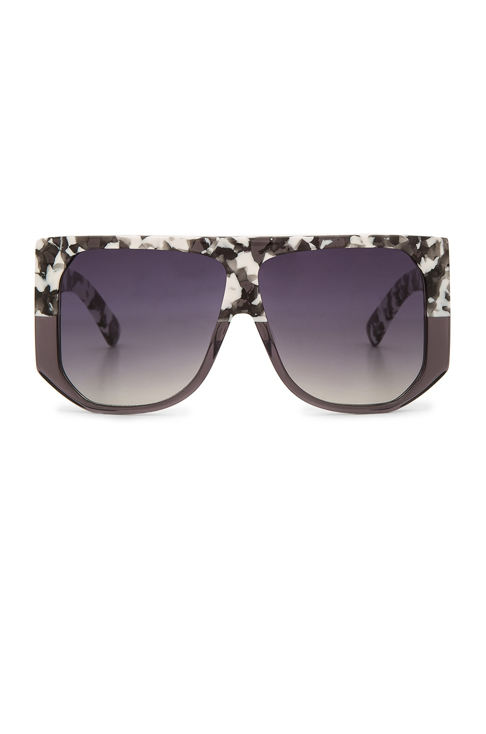 Hadid Eyewear Frequent Flyer in White Tortoise & Grey Crystal