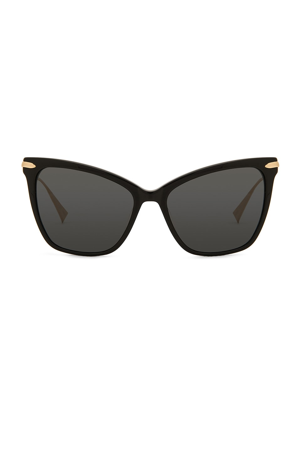 Hadid Eyewear Jet Setter in Black & Gold