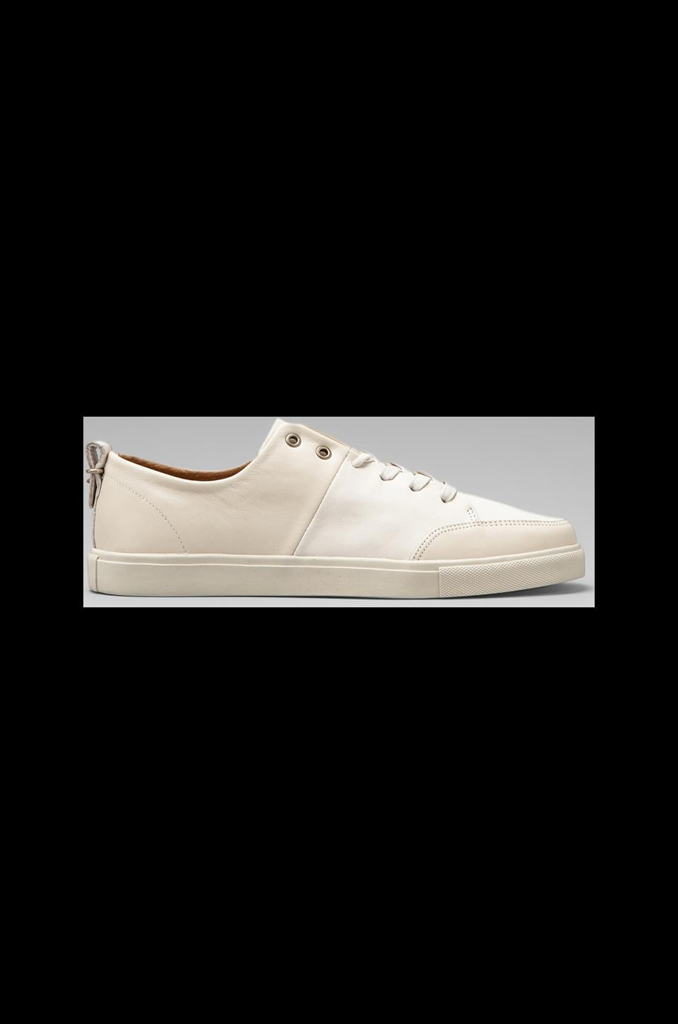 Haerfest Leather Trainers in Ivory/ Off White