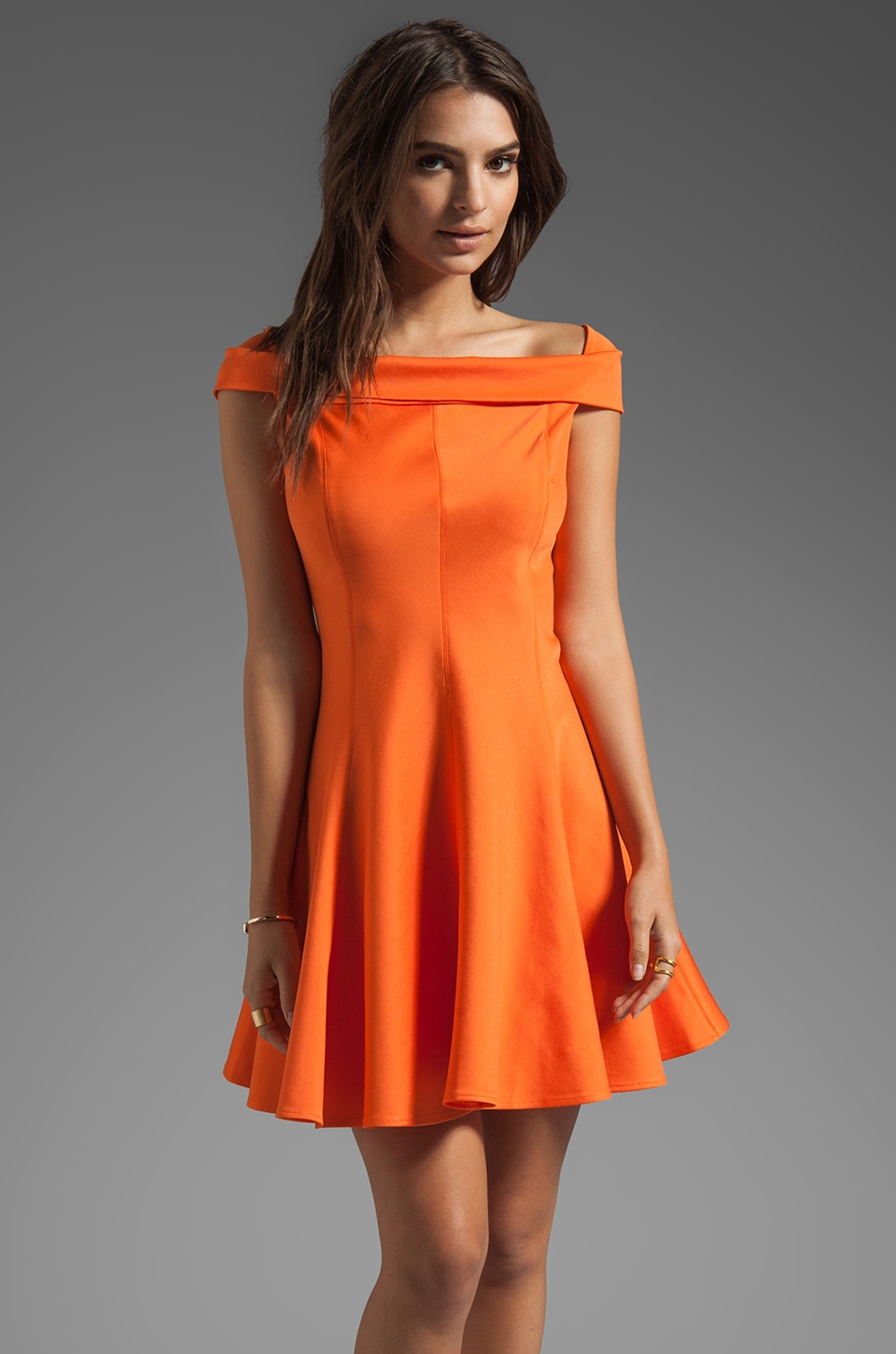 Halston Heritage Ponte Dress in Flame