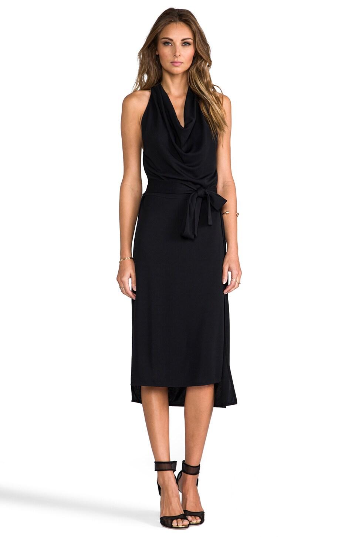 Halston Heritage Halter Cowl Neck Dress in Black
