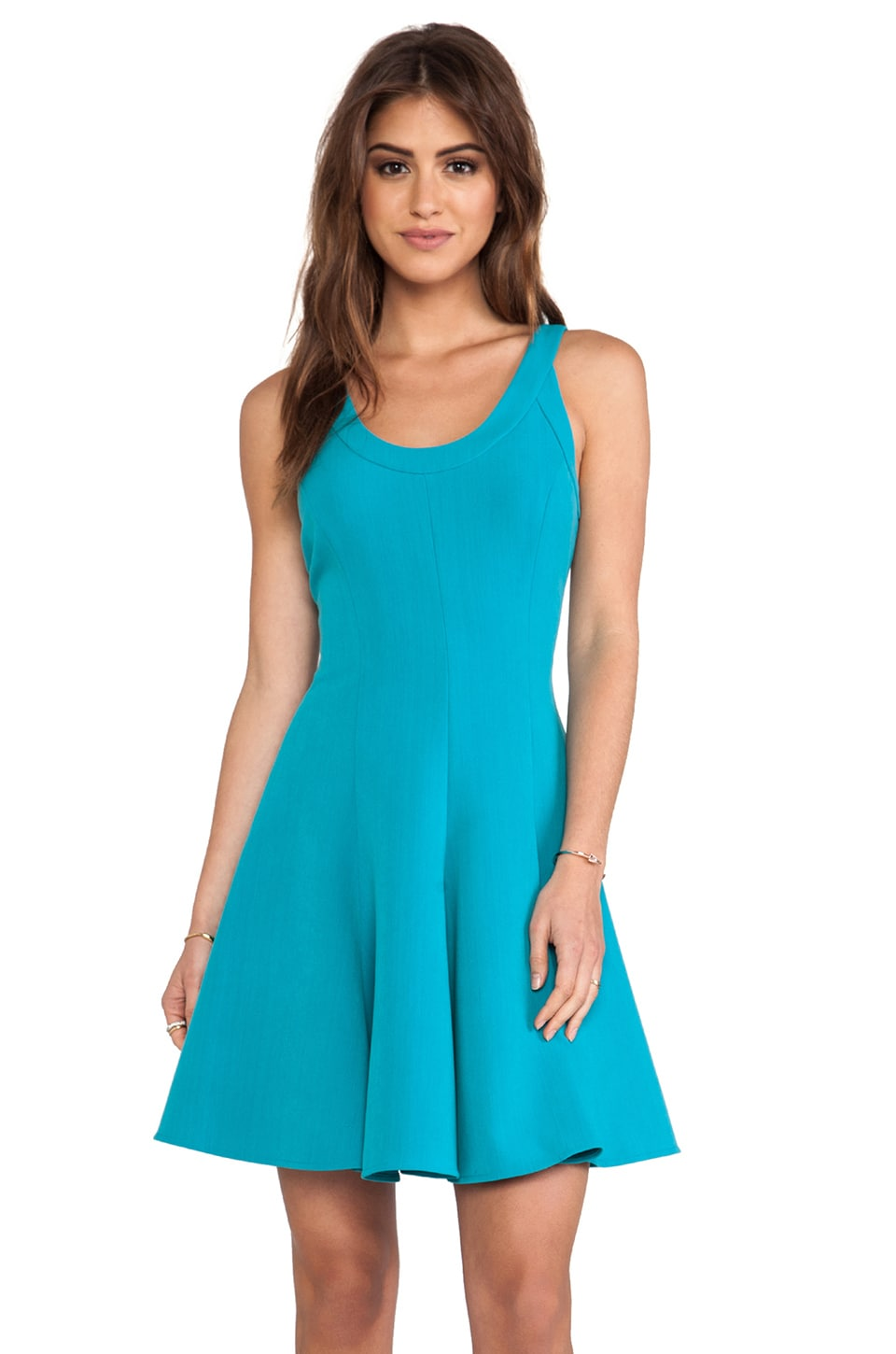 Halston Heritage Fit and Flare Dress in Caribbean