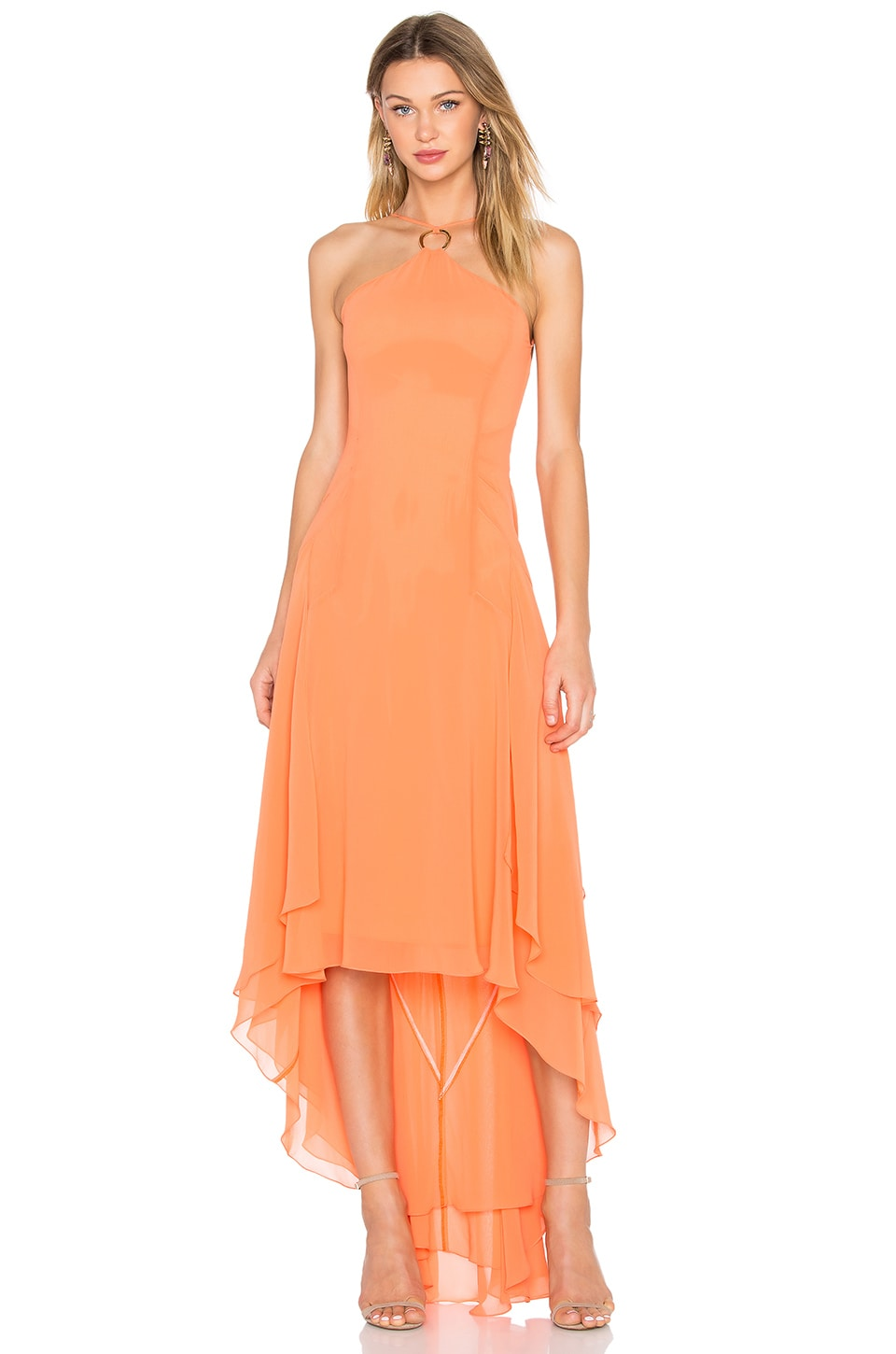 Halter High Low Dress by Halston Heritage