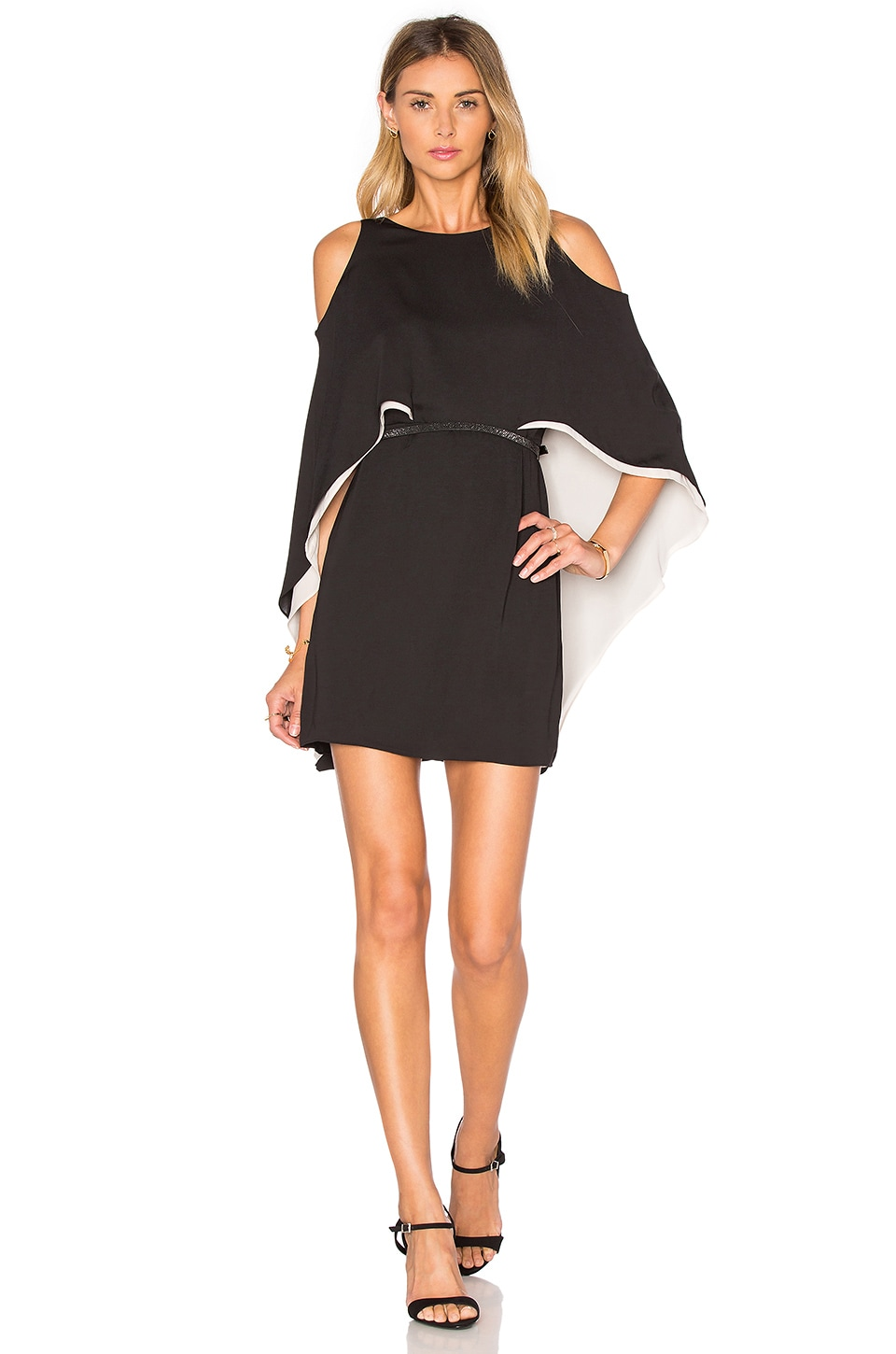 Cape Sleeve Flowy Dress by Halston Heritage