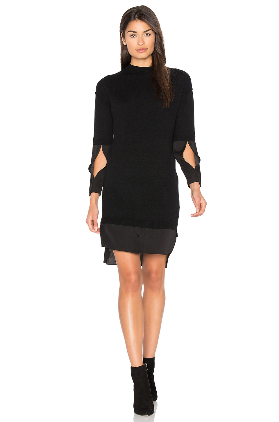 Mock Neck Sweater Dress by Halston Heritage