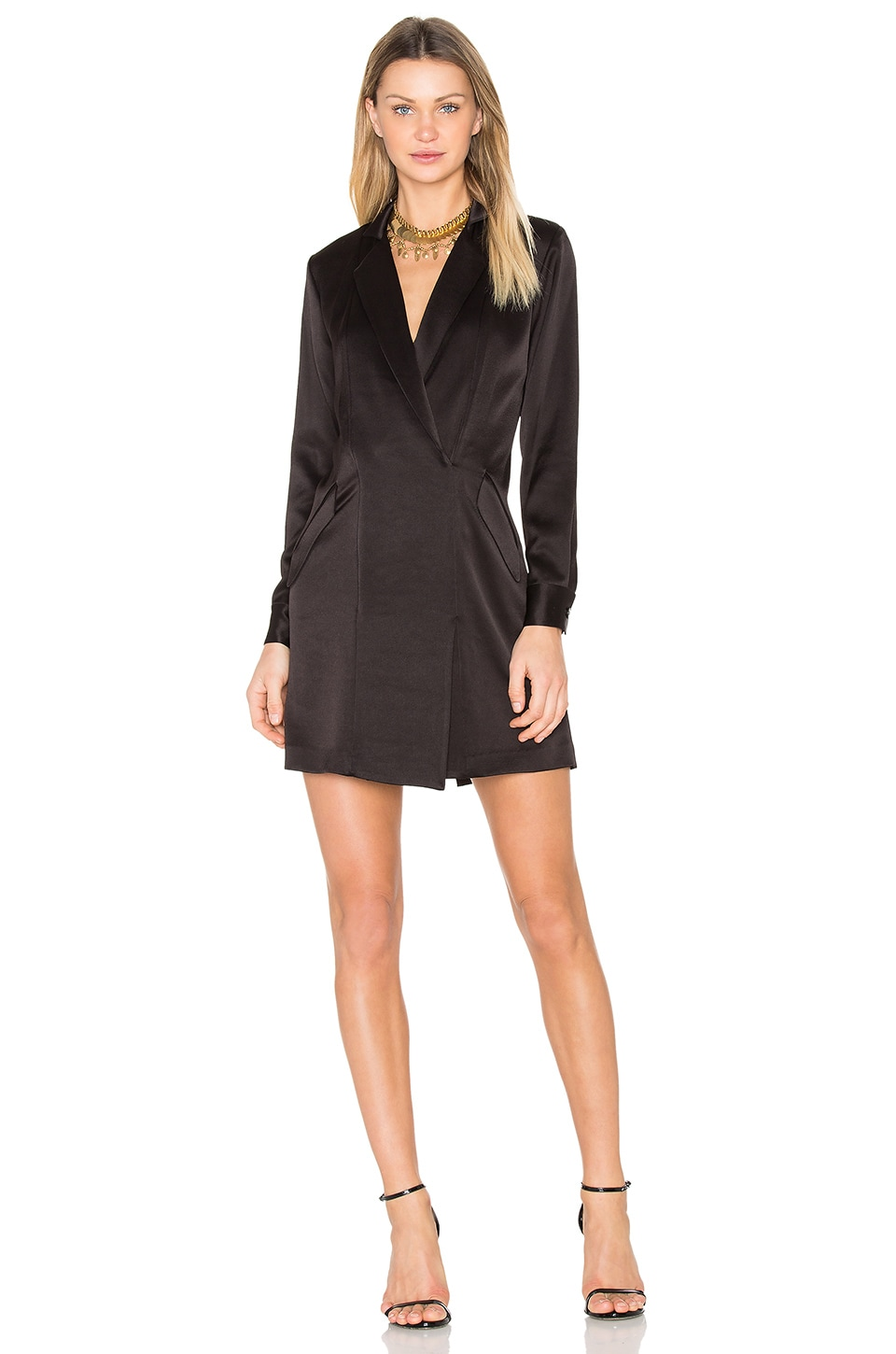 Satin Shirt Dress by Halston Heritage
