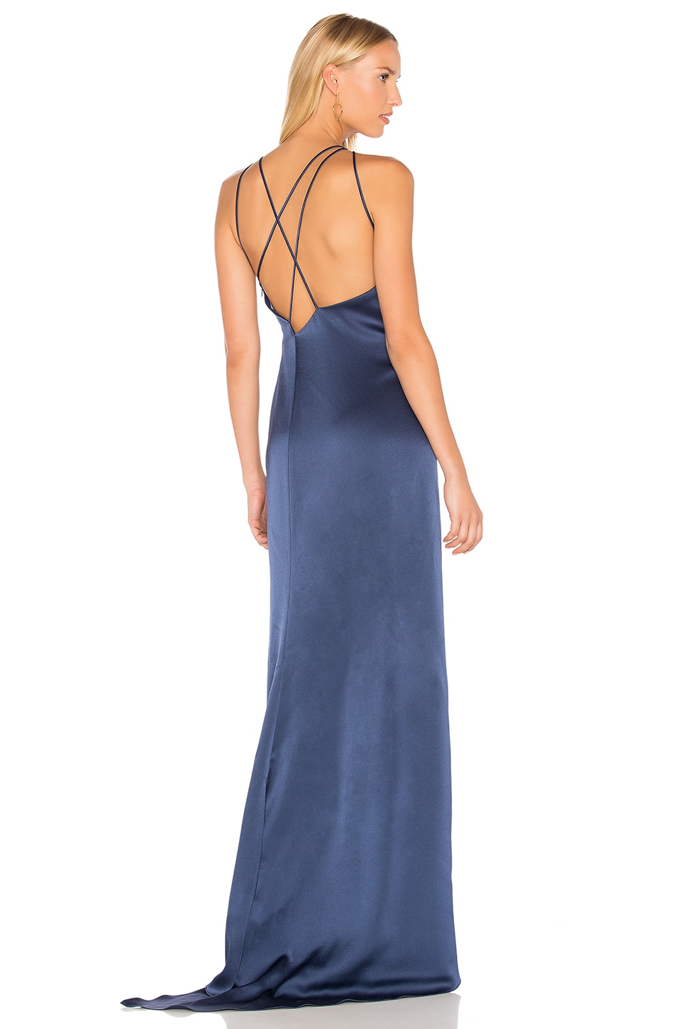 High Neck Gown With Back Drape by Halston Heritage