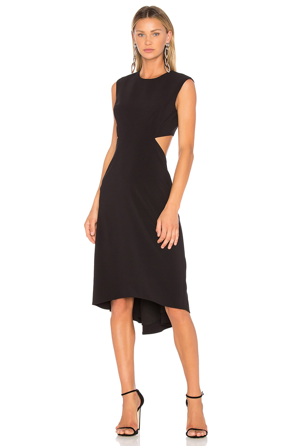 High Neck Dress With Back Cut Out by Halston Heritage