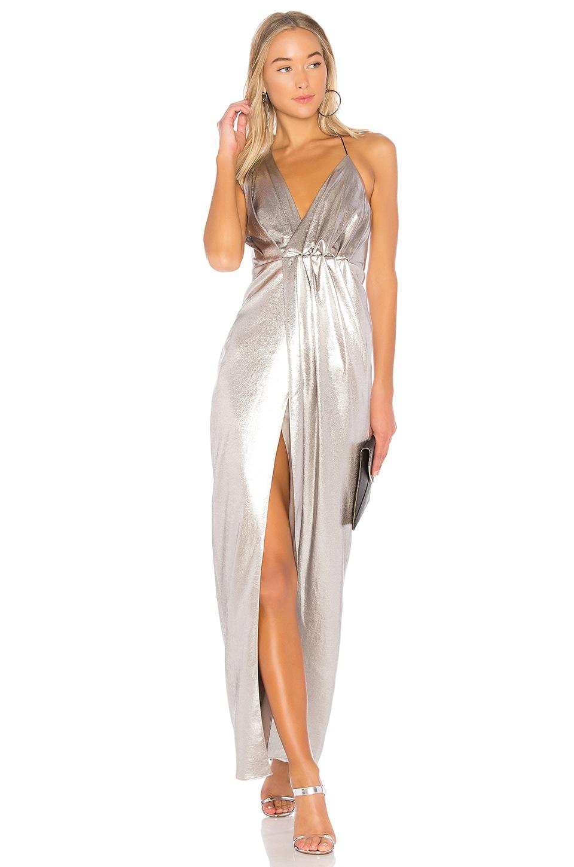 Halter Neck Asymmetrical Dress by Halston Heritage