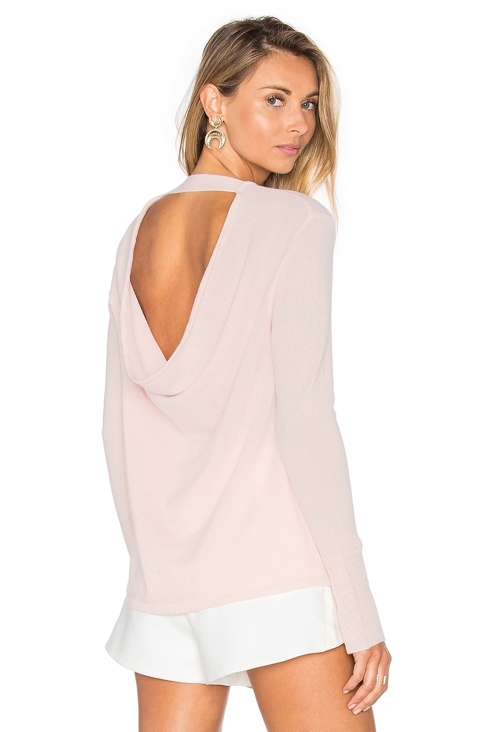 Round Neck Cashmere Sweater by Halston Heritage